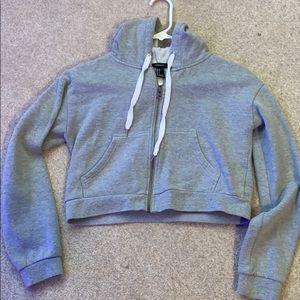 Forever 21 cropped zip up hoodie